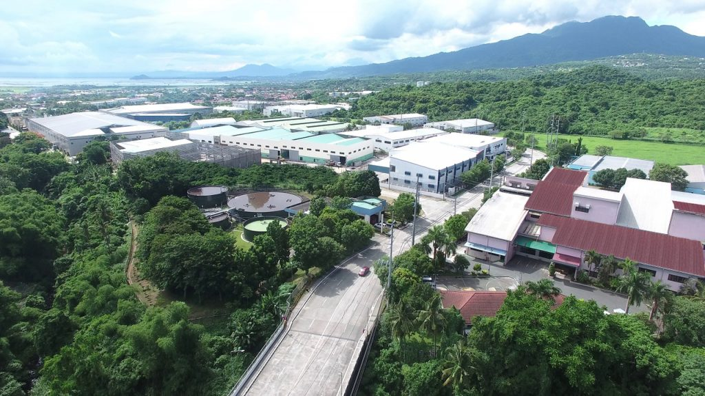 aerial shot of industrial park in the philippines