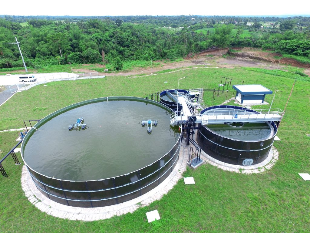 A water treatment plant
