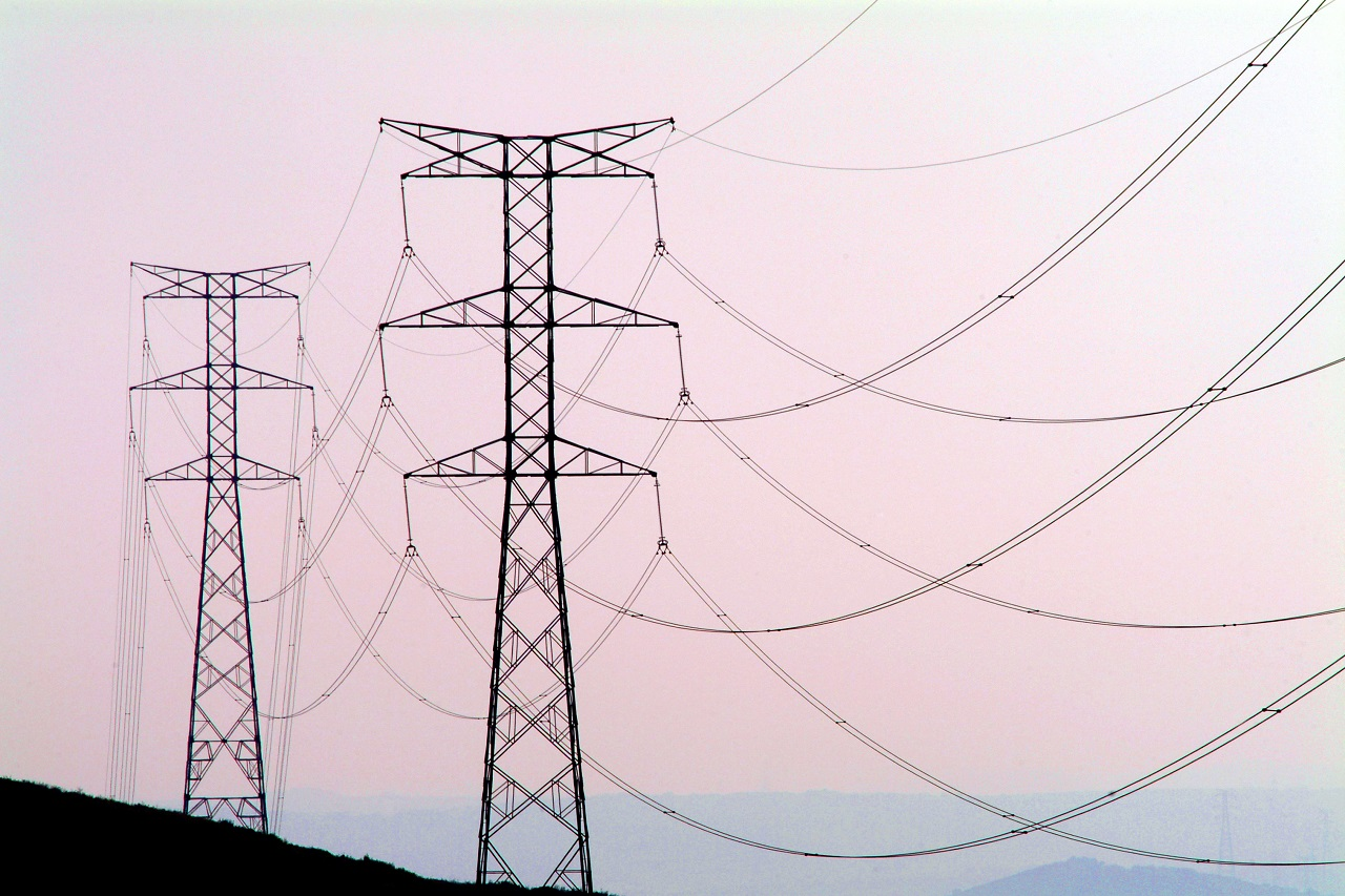 Two electrical towers