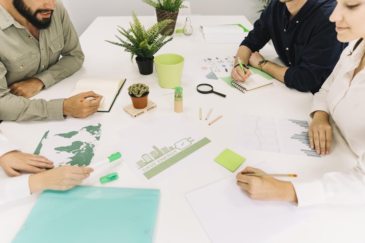 Company meeting regarding business sustainability