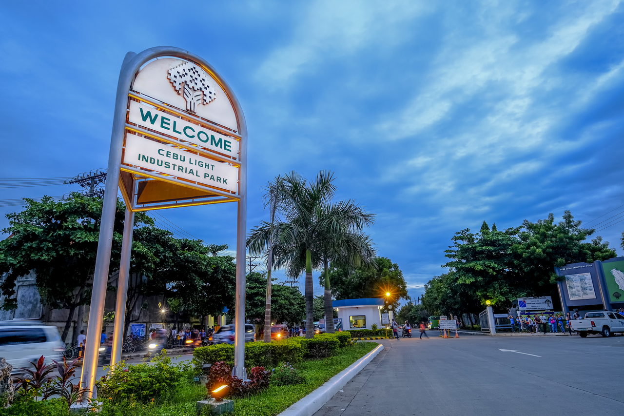 Entrance of an industrial park in the Philippines
