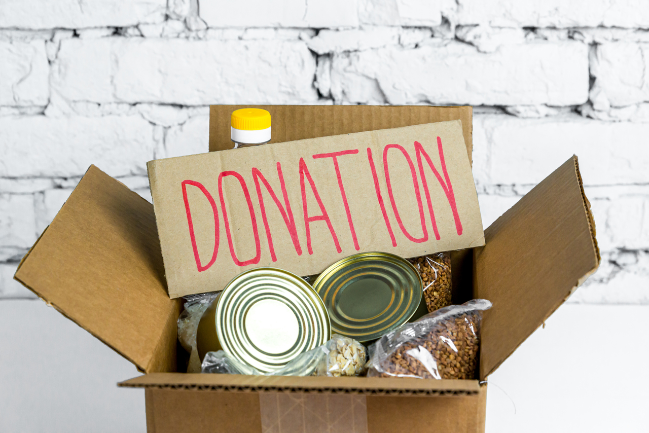 A box of donations
