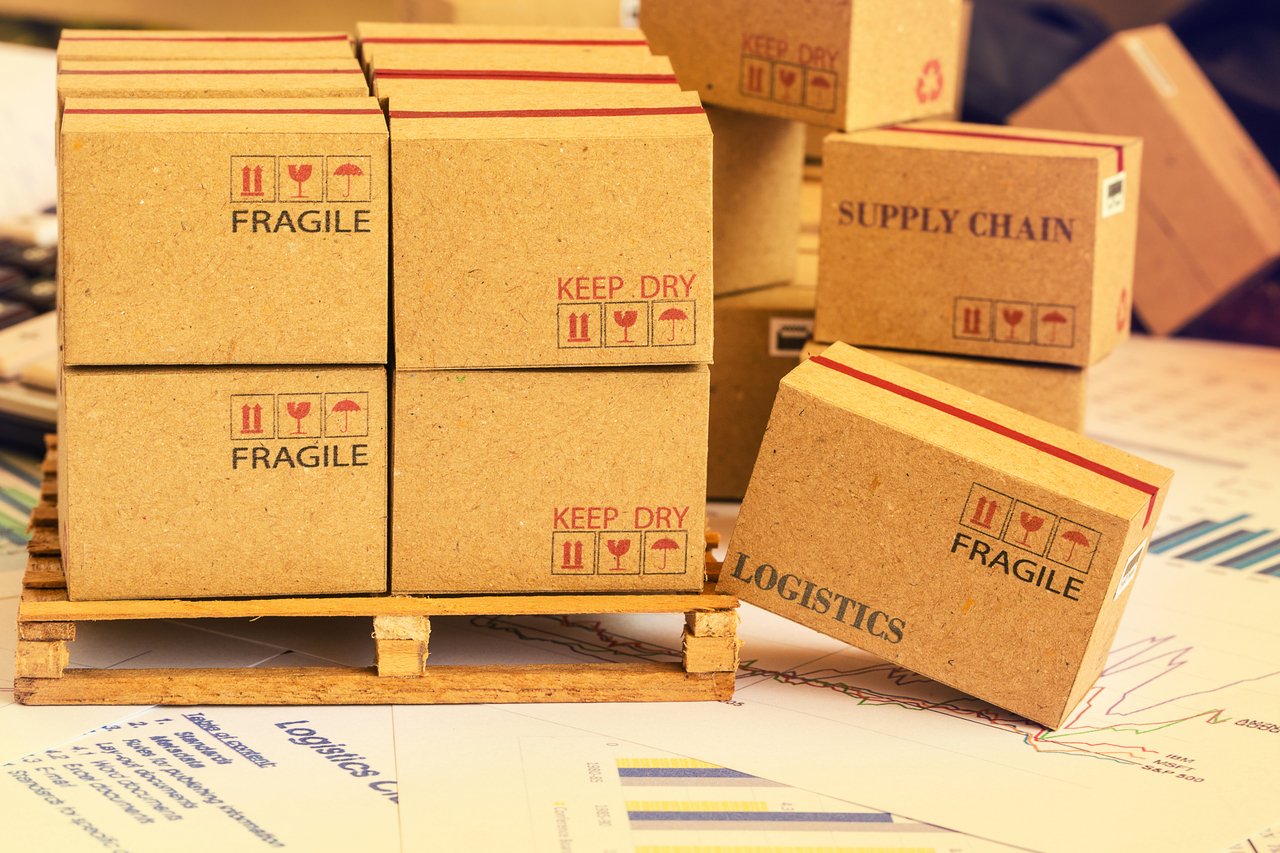 Boxes in a supply chain