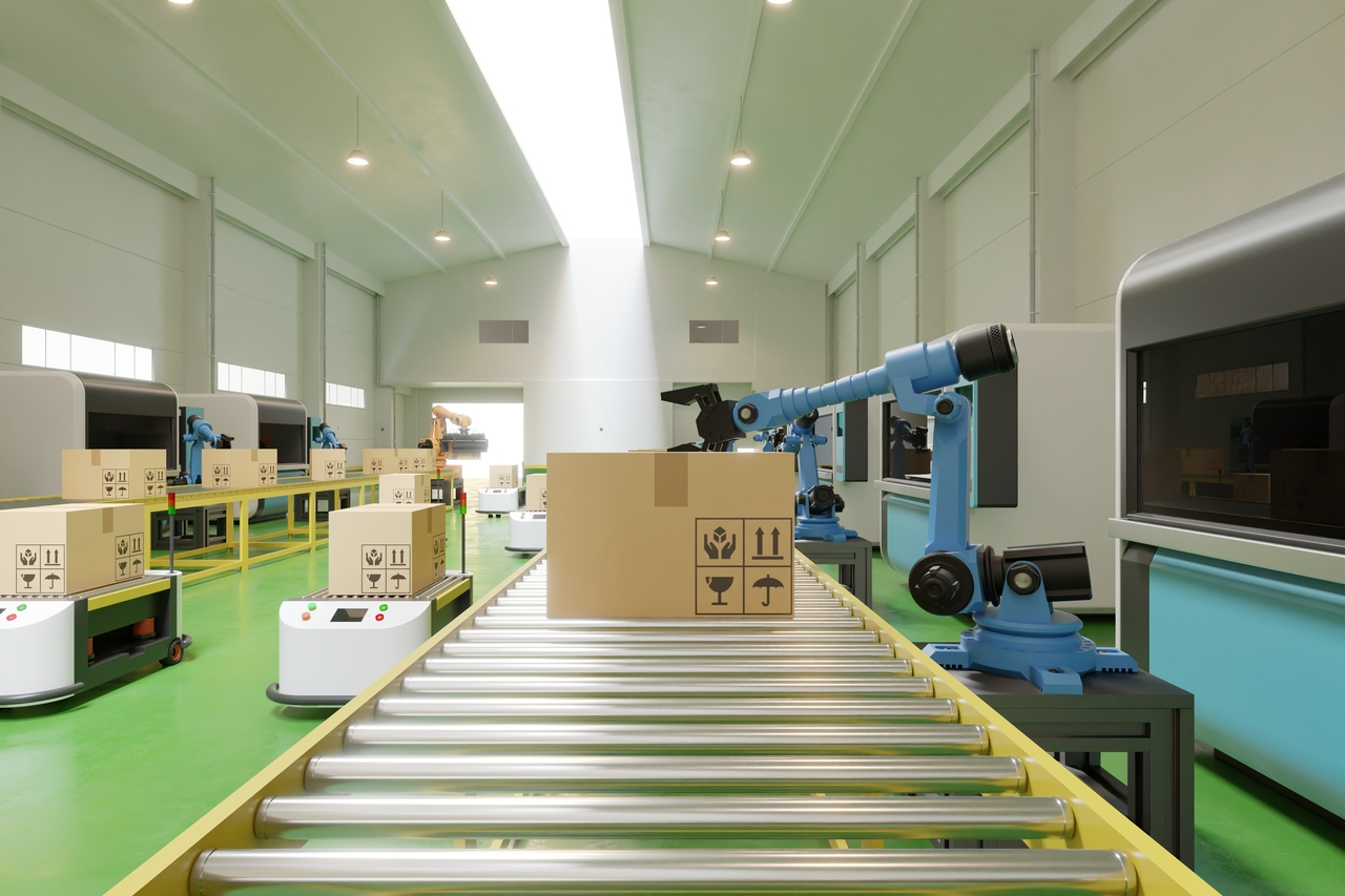 An automated packaging facility