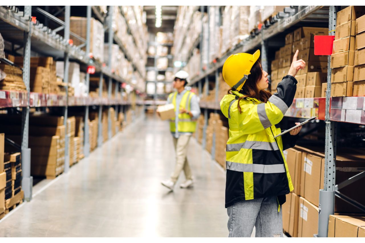 Employees inside warehouse